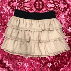 Sparkly tiered skirt